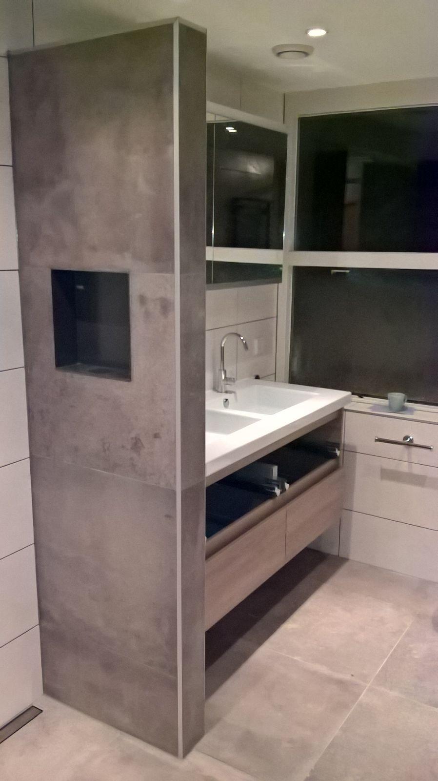 badkamer natuursteen look  aannemersbedrijf visser, Meubels Ideeën